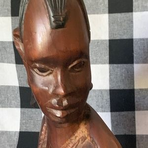 HAND CARVED African woman ***FREE SHIPPING***